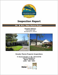 Greater Peoria Property Inspections Sample Report
